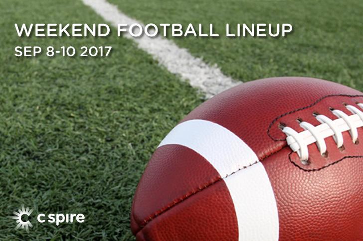 Weekend Football TV Lineup: September 8-10,2017